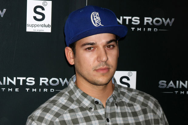 "Rob Kardashian arriving at the ""Saints Row: The Third"" Video Game Launch at the Supper Club on October 12, 2011 in Los Angeles, CA"